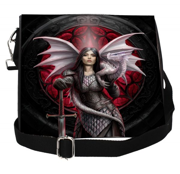 'Valour' Dragon Warrior Embossed Shoulder Bag