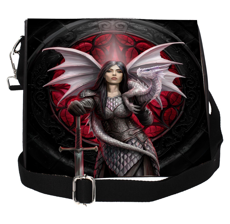 'Valour' Dragon Warrior Embossed Shoulder Bag