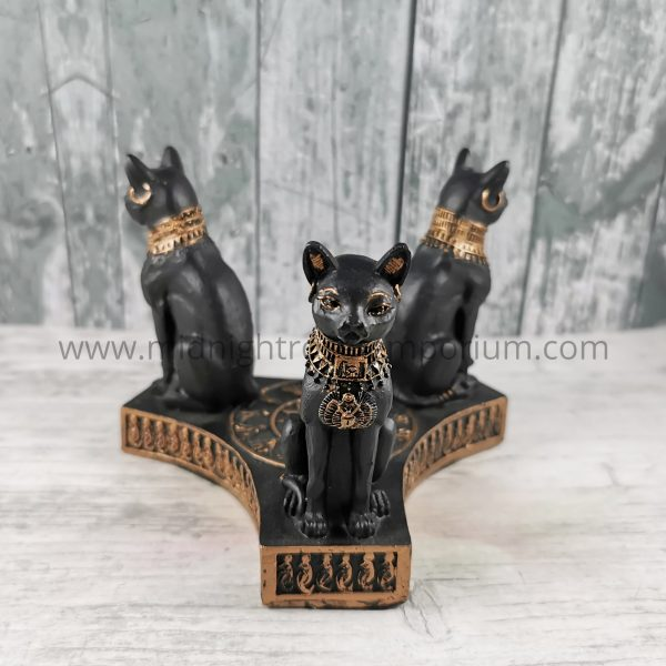 Bastet's Honour Crystal Ball Holder 12.7cm