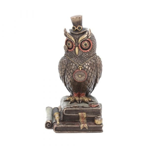 Time Wise Steampunk Owl Figurine 20.5cm