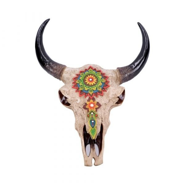 Mehndi Markings Animal Skull Ornament 44.5cm