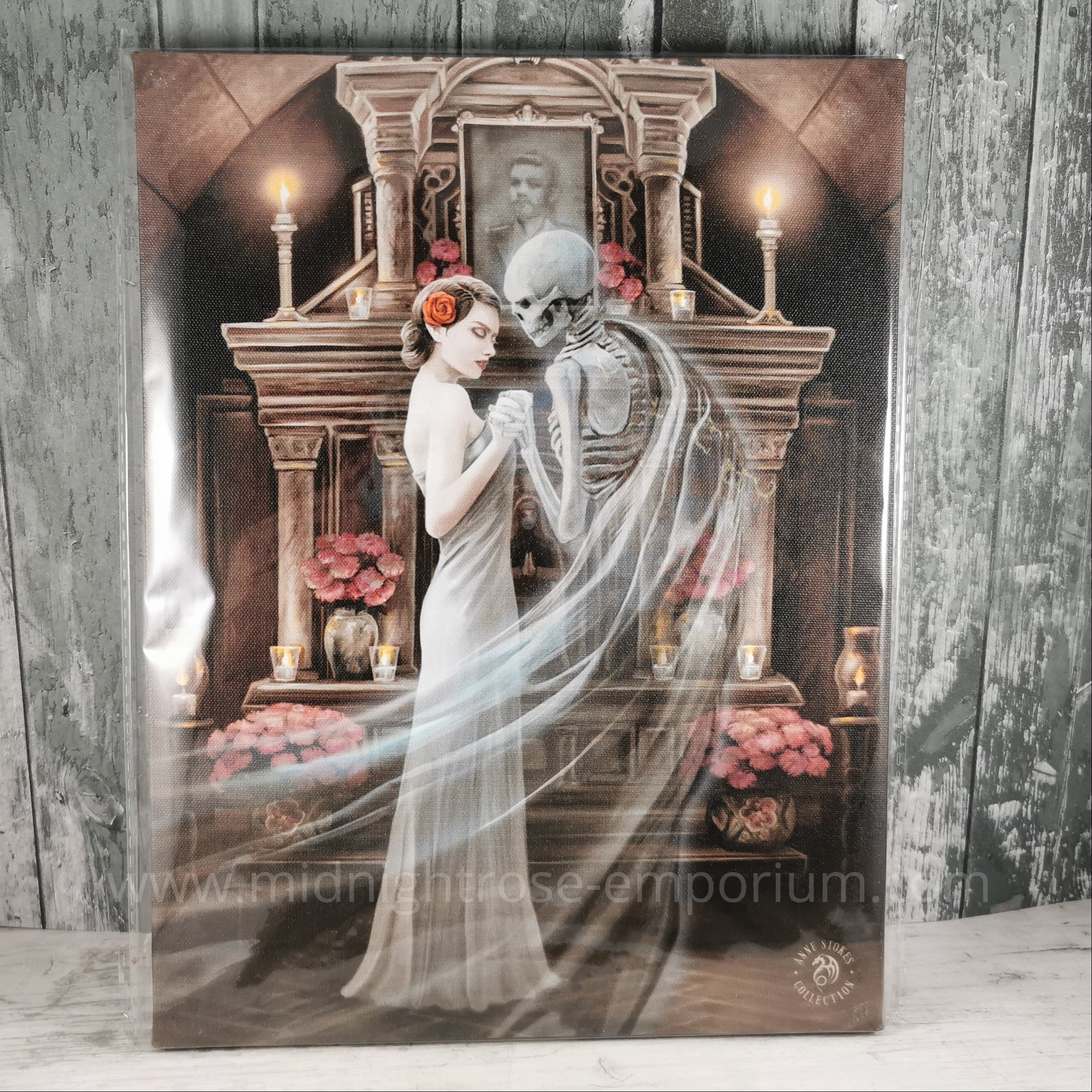 Forever Yours Canvas Plaque by Anne Stokes