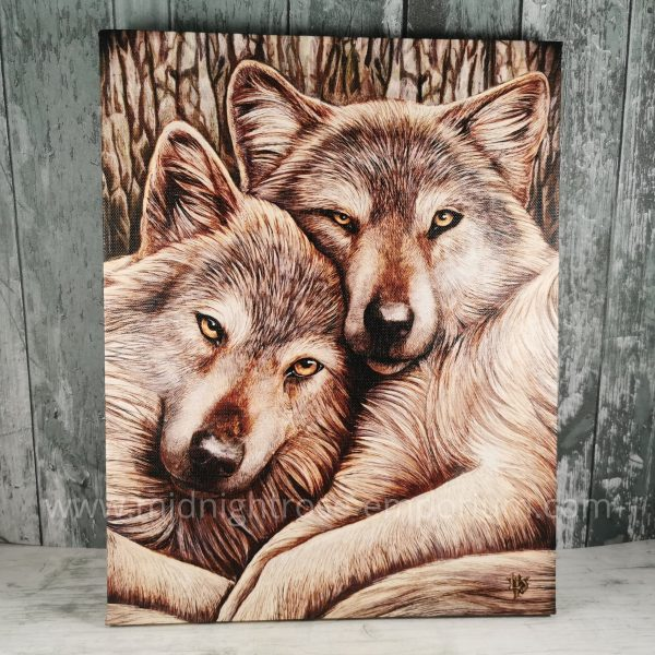 Loyal Companions Canvas Plaque by Lisa Parker