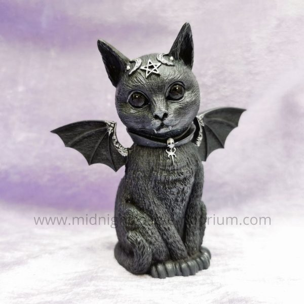 'Malpuss' Bat Cat Ornament 10cm