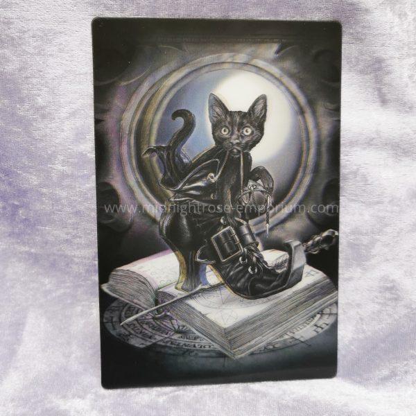 'Midnight Mischief' Black Cat in Boot 3D Postcard