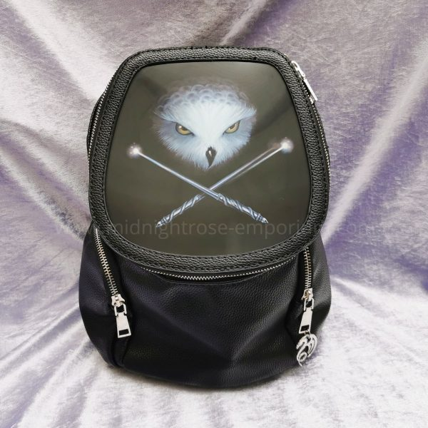 Anne Stokes 3D Lenticular Backpack 'Owl & Crossed Wands'