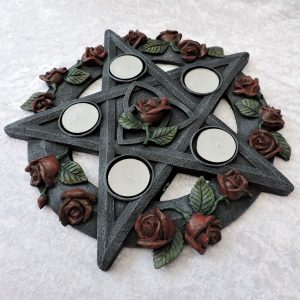 Pentagram Rose Tea-Light Candle Holder