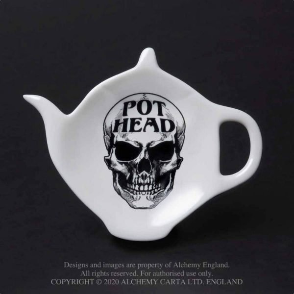 Pot Head Skull Spoon Rest
