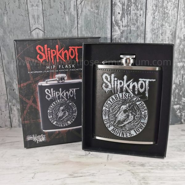 Slipknot Flaming Goat Hip Flask - Officially Licensed Merch