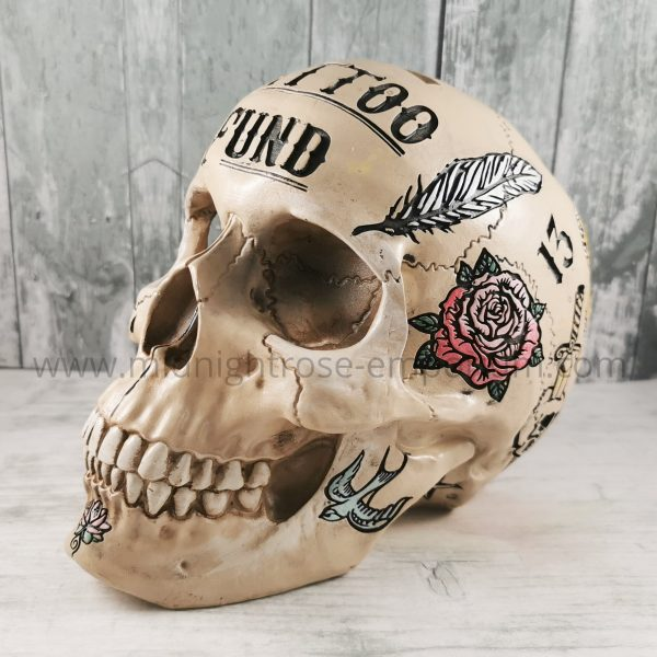 Natural Skull 'Tattoo Fund' Money Box