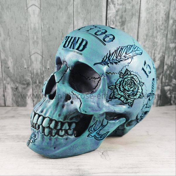 Blue Skull 'Tattoo Fund' Money Box
