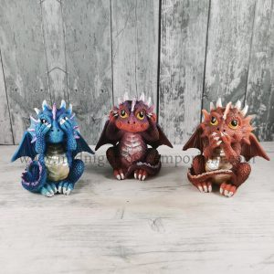 Three Wise Dragonlings 8.5cm