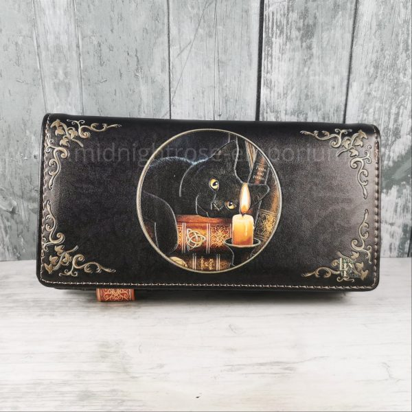 The Witching Hour Embossed Black Cat Purse