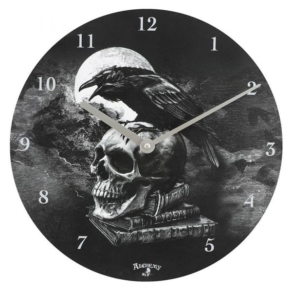 Alchemy Poe's Raven Wall Clock