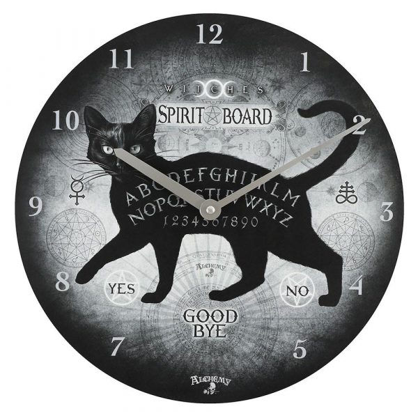 Alchemy Black Cat Spirit Board Wall Clock