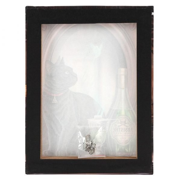 Absinthe Black Cat Canvas Picture by Lisa Parker
