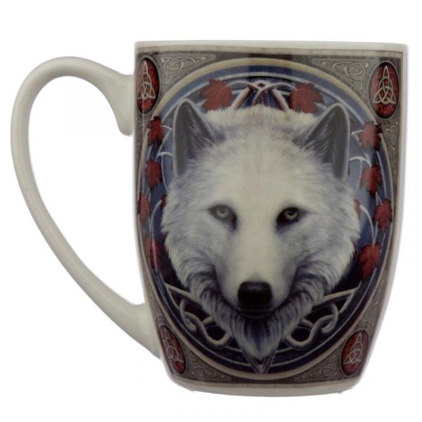 'Guardian of the Fall' White Wolf Mug