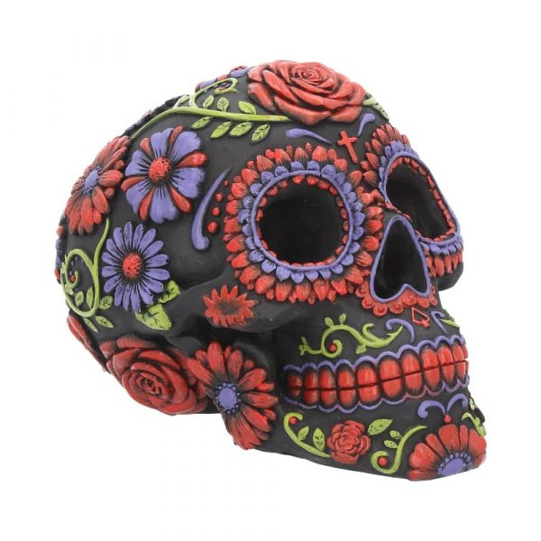 Sugar Blooms Skull Ornament 18cm