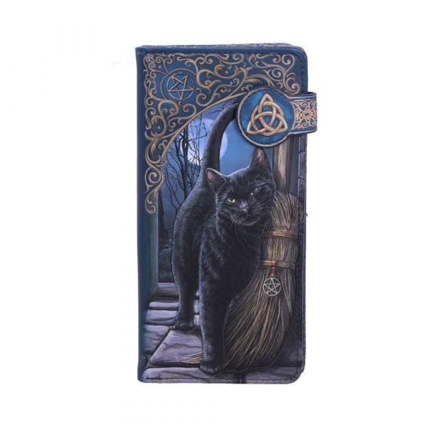 A Brush with Magick Embossed Black Cat Purse