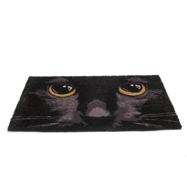 Black Cat Eyes Door Mat 45x75cm
