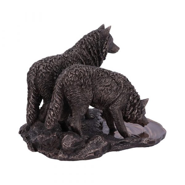 Warriors of Winter Bronze Wolf Ornament 35cm (LP)