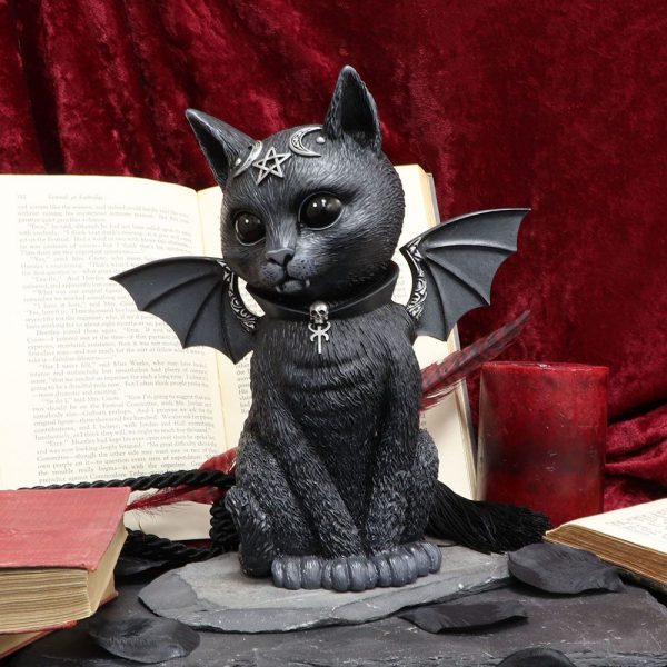 'Malpuss' Bat Cat Ornament 24cm