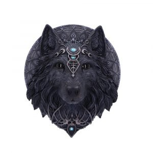 Wolf Moon Wall Plaque 30cm