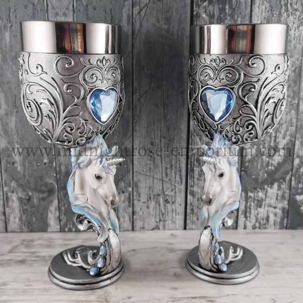 Enchanted Hearts Unicorn Goblets 18.5cm