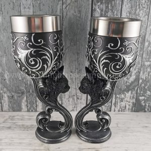 Familiar's Love Black Cat Goblets