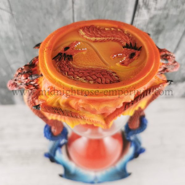 Ice Flame Dragon Sand Timer 18cm
