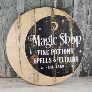 Magic Shop Round Hanging Sign