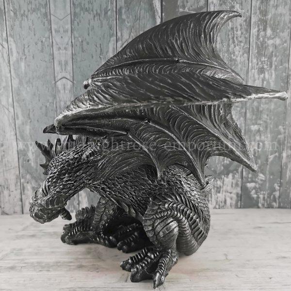Obsidian Dragon Figurine 25cm
