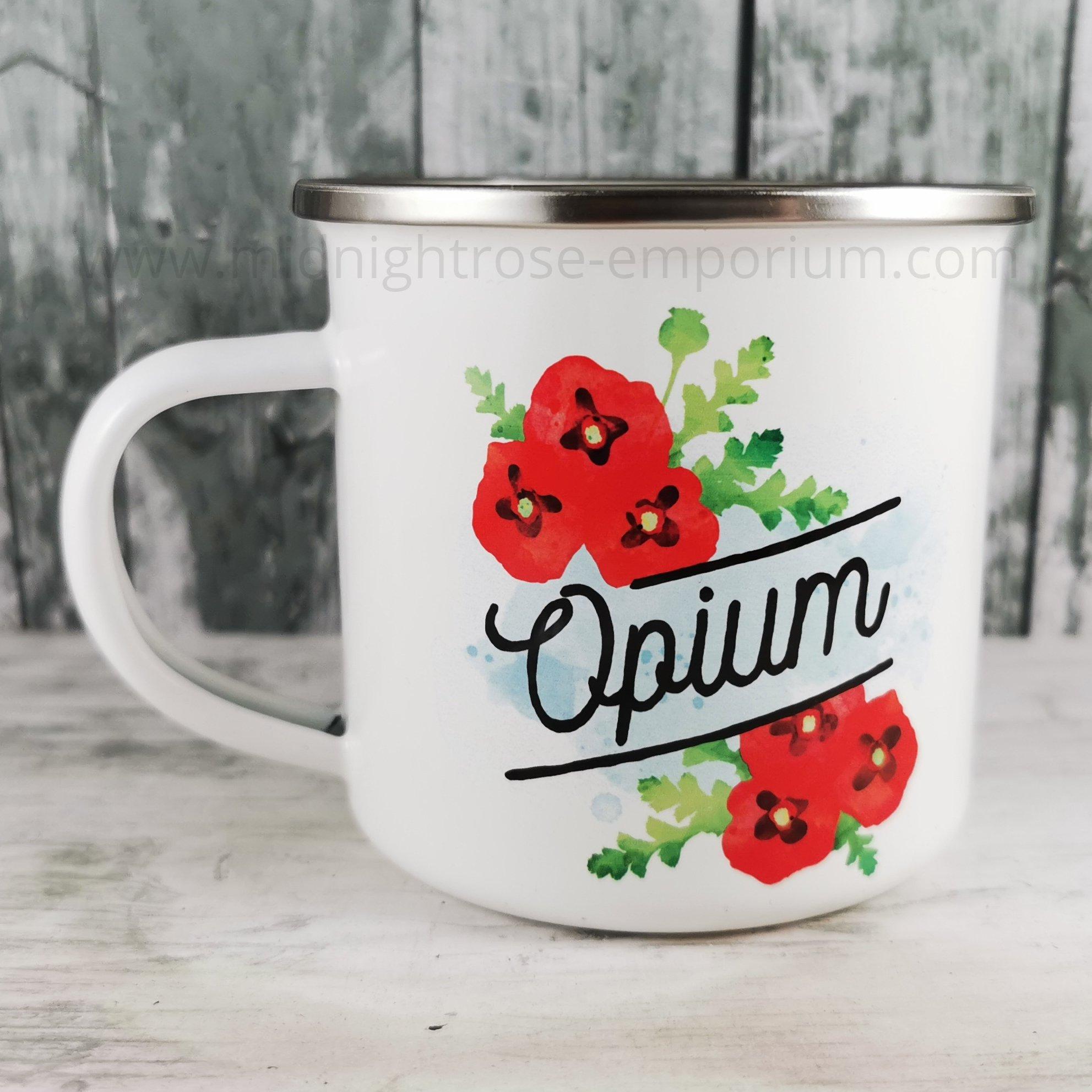 Deadly Detox 'Opium' Enamel Mug