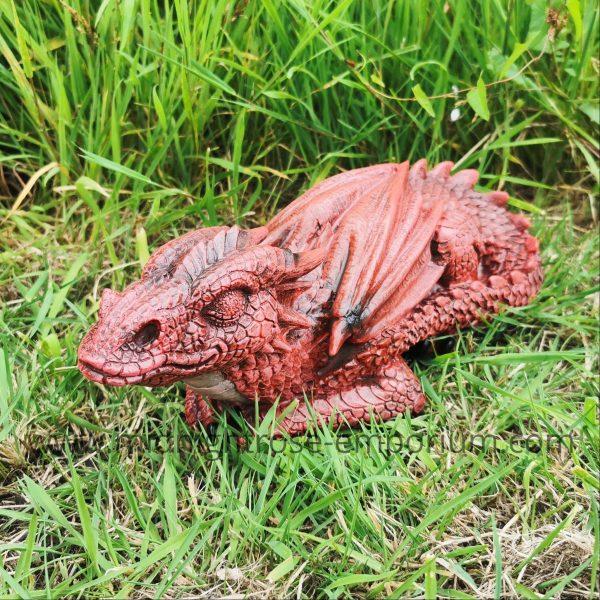 Ruby Dreaming - Sleeping Dragon Figurine 31.3cm