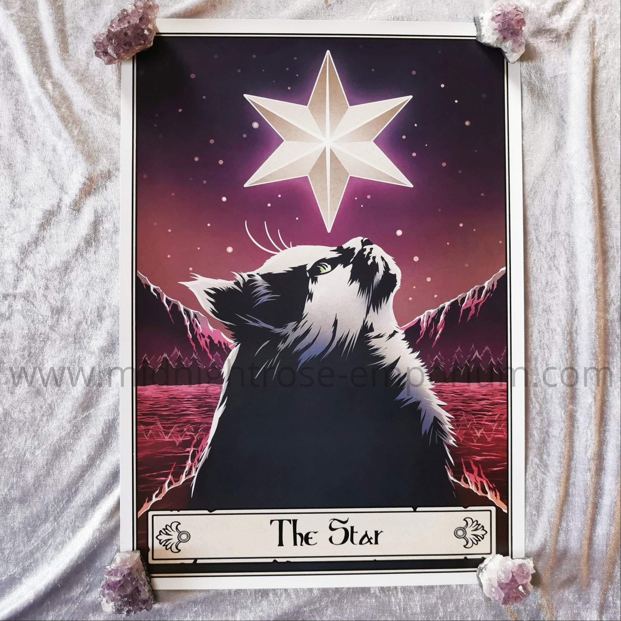 Deadly Tarot Felis 'The Star' Mini Art Poster
