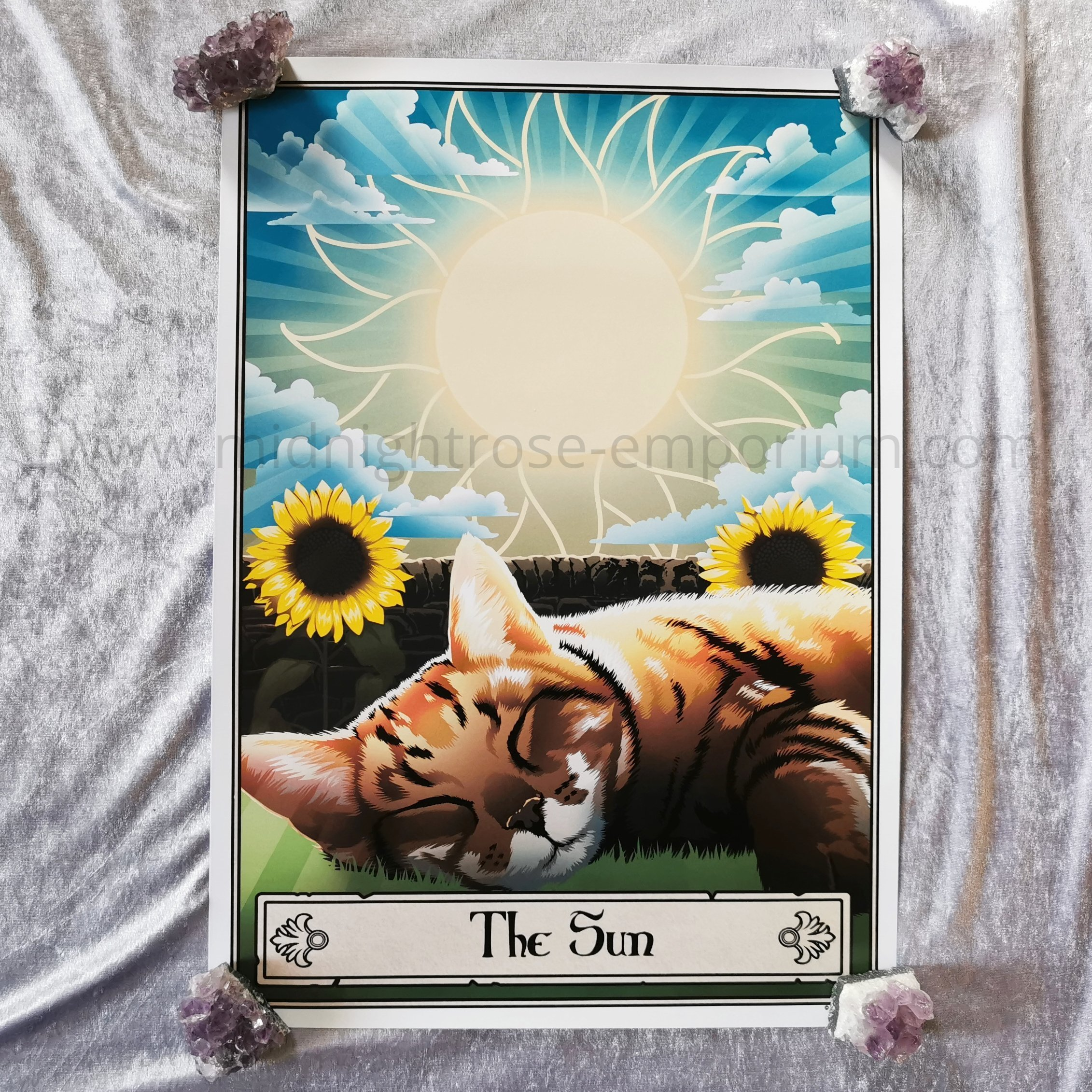 Deadly Tarot Felis 'The Sun' Mini Art Poster