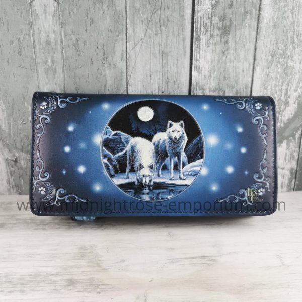 Warriors of Winter Embossed Wolf Purse