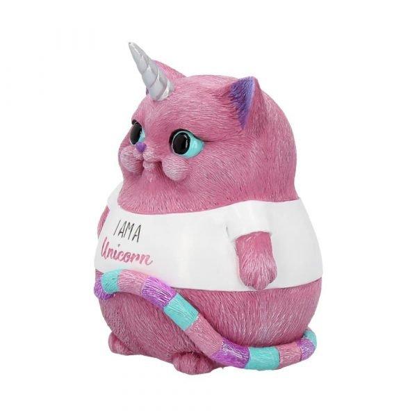 'I Am A Unicorn' Pink Cat Ornament 8.5cm