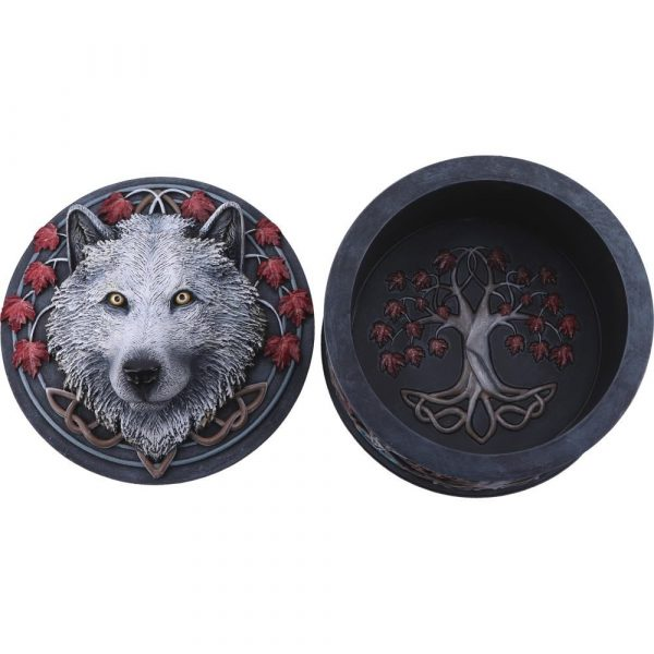 Guardian of the Fall White Wolf Box 11cm- PRE ORDER