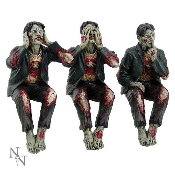 See No, Hear No, Speak No Evil Zombies 10cm