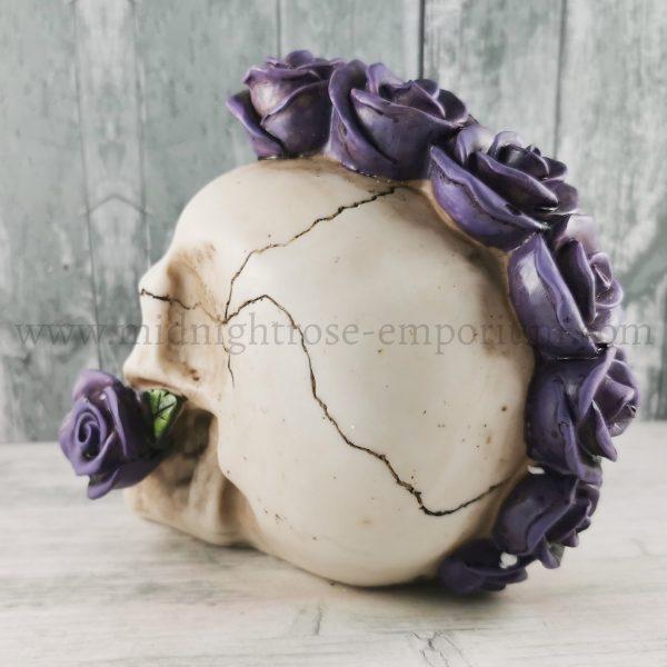 Purple Rosehawk Skull Ornament 16cm