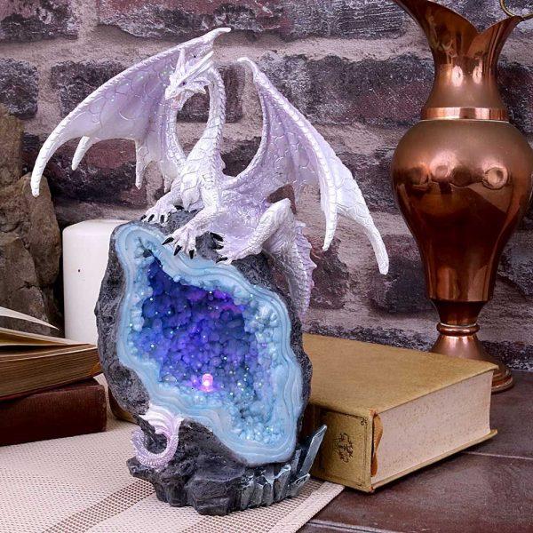Glacial Custodian Crystal Dragon Figurine 22cm