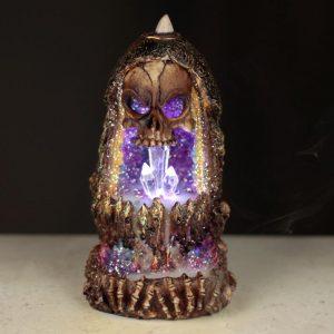 Skull & Geode Cave LED Backflow Incense Burner