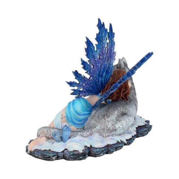 'Lupiana' Fairy & Wolf Figurine 34cm