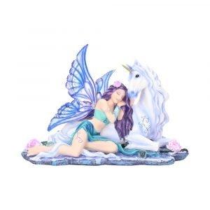 'Belle' Fairy & Unicorn Figurine 34cm