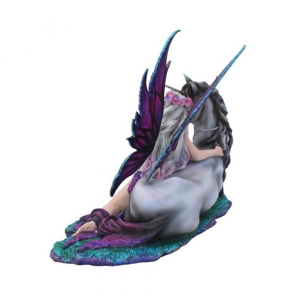 'Evania' Fairy & Unicorn Figurine 40cm