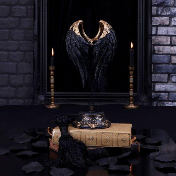 Dark Angel Wings Sculpture 26cm