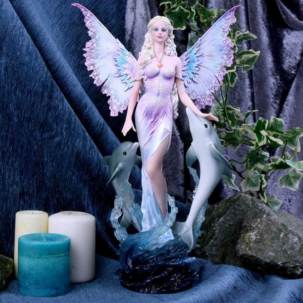 'Delphinia' Fairy & Dolphins Figurine 39.5cm