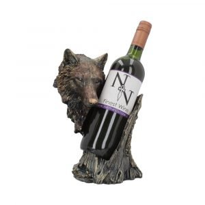 'Call of the Wine' Wolf Wine Bottle Holder 26cm