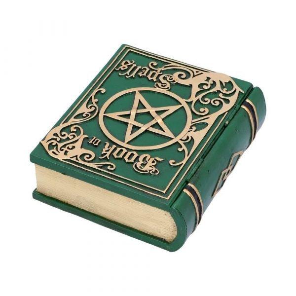 Green Book of Spells Secret Storage Box 15.5cm